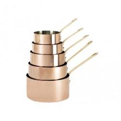 Série 5 casseroles cuivre inox 12-20cm De Buyer
