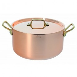 Cocotte ronde cuivre inox + couvercle 16cm De Buyer