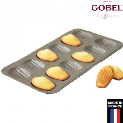 Plaque à madeleines anti-adhésive 12 empreintes Gobel France