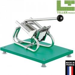 Coupe frites inox professionnel sur planche avec ventouse Tellier France