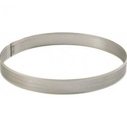 Cercle perforé inox 16cm H2cm