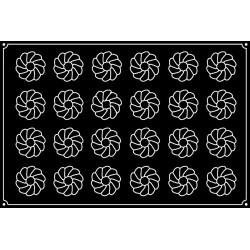 Plaque silicone 24 cônes cannelés Pavoflex