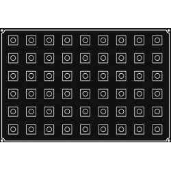 Plaque silicone 54 mini cubes Pavoflex