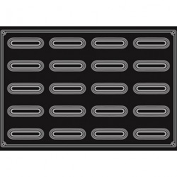 Plaque silicone 20 bandes creuses Pavoflex