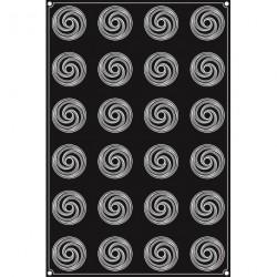 Plaque silicone 24 boutons de Rose Pavoflex