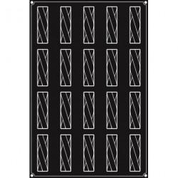 Plaque silicone 20 bandes Twist Pavoflex