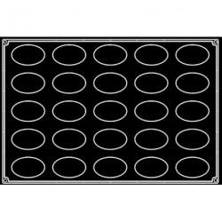 Plaque silicone 25 ovales Pavoflex