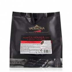 Fèves chocolat noir Guanaja 70% 1kg - Valrhona