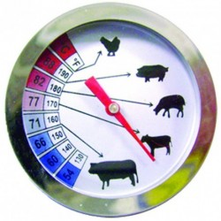 Thermomètre à viandes sonde inox