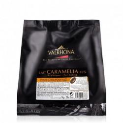 Fèves chocolat lait Caramelia 36% 1kg - Valrhona