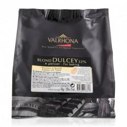 Fèves chocolat blond Dulcey 32% 1kg - Valrhona