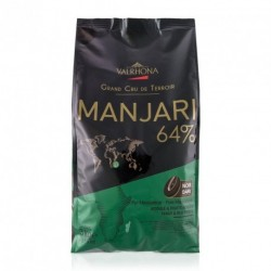 Sachet 3kg Fèves chocolat noir Manjari 64% -Valrhona