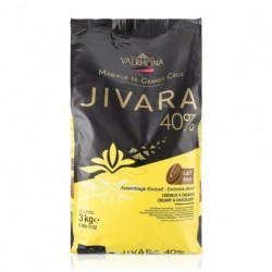 Sachet 3kg Fèves chocolat lait Jivara 40% -Valrhona