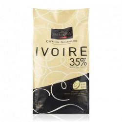 Sachet 3kg Fèves chocolat blanc Ivoire 35% -Valrhona