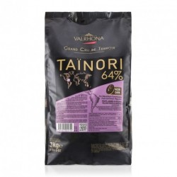 Sachet 3kg Fèves chocolat noir Taïnori 64% - Valrhona