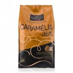 Sachet 3kg Fèves chocolat lait Caramélia 36% -Valrhona
