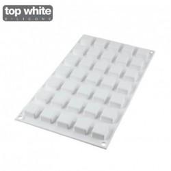 Moule silicone micro carré x35 - Silikomart Professional