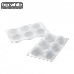 Moule silicone demi-sphère Parfum x6 - Silikomart Professional