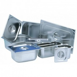 Couvercle inox avec joint bac GN1/4