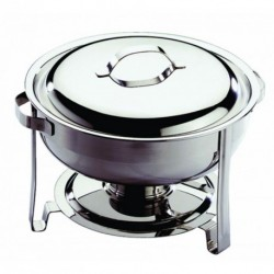 Chafing Dish rond inox + couvercle 3,5L
