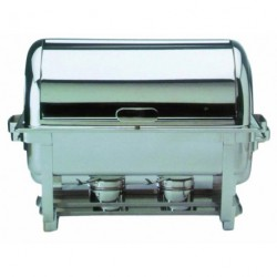 Chafing Dish inox avec couvercle Roll Top 9L