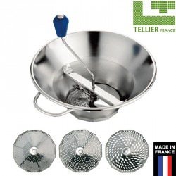 Moulin inox 3 grilles professionnel n°3 Tellier France