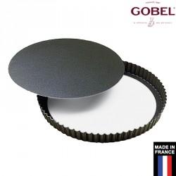 Moule à tarte rond fond amovible anti adhésif gobel France