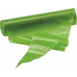 Rouleau poche jetable verte 55cm x100